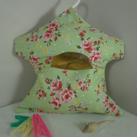 Green Floral Print Peg Bag