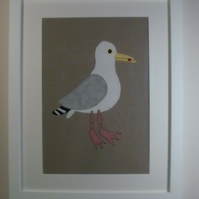 Herring Gull Applique Picture