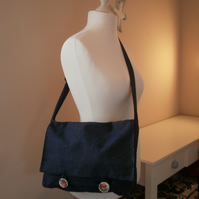 Denim Messenger Bag Satchel