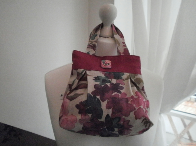 Mini Flower Garden Pleated Handbag