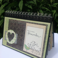 'I Always Want to Remember...' scrapbook album or photo album or memory book