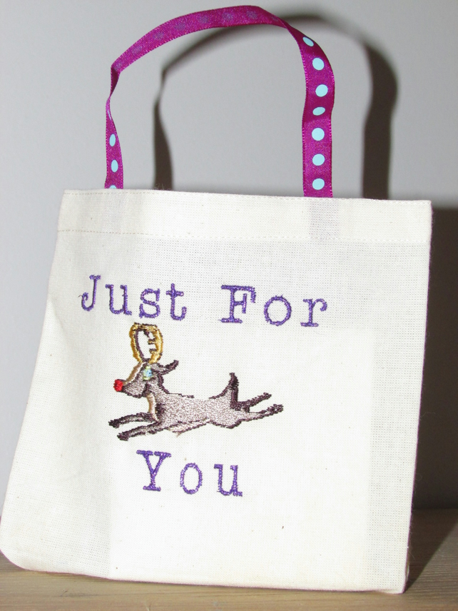 Just For You Reindeer Gift Bag