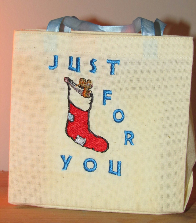 Just for you Stocking Gift Bag