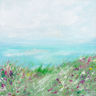 Seascape Flowers Painting