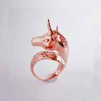 Rose Gold Unicorn Ring