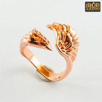 Rose Gold Phoenix Ring