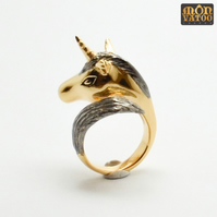 Black Knight Unicorn Ring