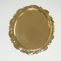 Gold Plated Large Brooch frame 30mm x 40mm setting