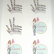 6x stickers labels Custom personalised printed White per a4 sheet x 5 sheets