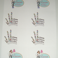 8 per sheet stickers labels Custom personalised printed White x 5 sheets