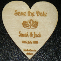 Save the Date Wooden Fridge Magnet -  Made to order