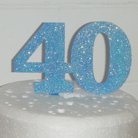 Glitter Acrylic Cake Topper any Number for 6 inch cake