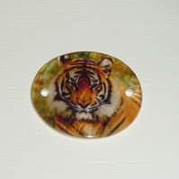 Shell Pendant with Tiger image