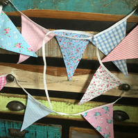 Handmade Bunting - Pinks and Blues