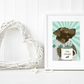 A3 Chocolate Labrador, gift for chocolate lab owners, Giclee Fine Art Print
