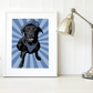 A4 Black Labrador service dog giclee print, gift for dog handlers & police dogs