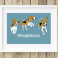 A3 Beagle pop art print, the perfect gift for beagle owners