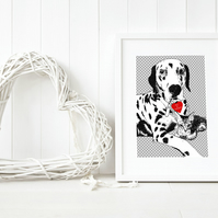 A4 PET PORTRAIT from PHOTO. Personalised art of your pet. Woof and Meow!