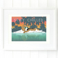 A3 'Stay chilled' beagle wall art print, relaxing wall art