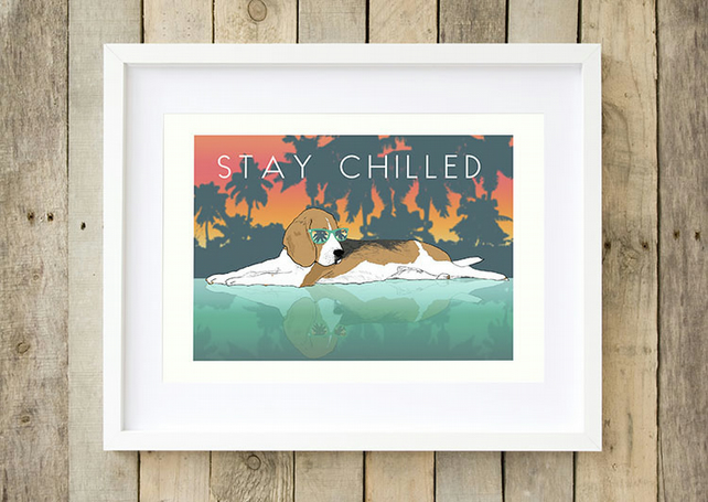 Modern Beagle art, Beagle dog gift, Beagle dog art, Beagle gifts for her