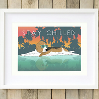 Beagle wall art, Beagle print, Beagle gift for her, Gift for beagle lover