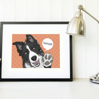 Border collie gift, Dog art Collie gifts, Funny border collie gift, Dog gift