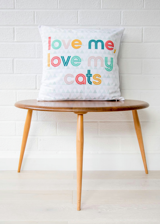 cat cushion gift cat gifts for her cat lover folksy