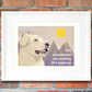 Pyrenean mountain dog art print, Great Pyrenees wall art, A3 Pyrenean dog gift