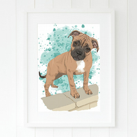 Pet portrait from photo. Personalised art of your pet. Woof and Meow!
