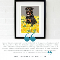 Custom pet artwork - animal lover birthday gift - Mother's day gift