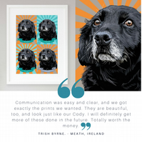 Pet pop art commission - Pet pop art portrait - Bespoke animal pop art portrait