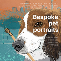 Bespoke pet portraits - Custom pet art - Luxury Christmas gift for pet owners