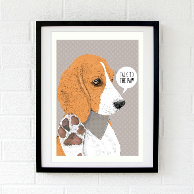 Personalised Beagle wall art gift for beagle lovers - Dog art - Beagle gift