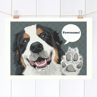 Berner Sennenhund dog art, Bernese Mountain dog gift ideas, Sennenhund art