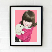 Bespoke child portrait - Kid's portrait - Family portrait - Christmas gift idea