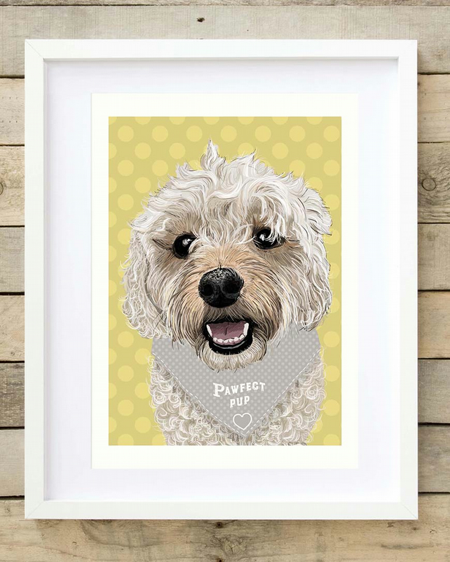 Personalised Cavapoo art print - Cavapoo gift for her - Gift for Cavapoo Mum