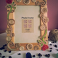 Photo frame decorated with natural fiber jute twine