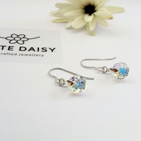 Sterling Silver & Swarovski Crystal Earrings