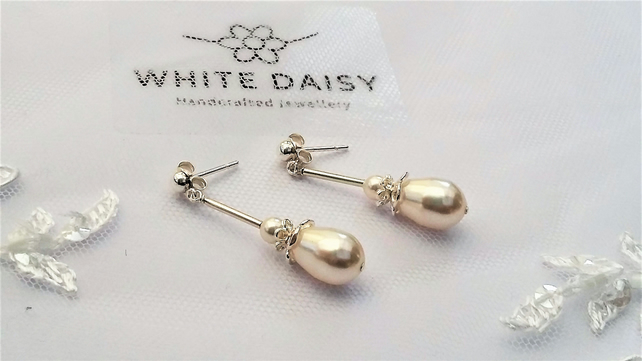 Pearl & Sterling Silver Earrings