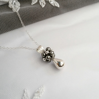 Grey Pearl & Sterling Silver Pendant