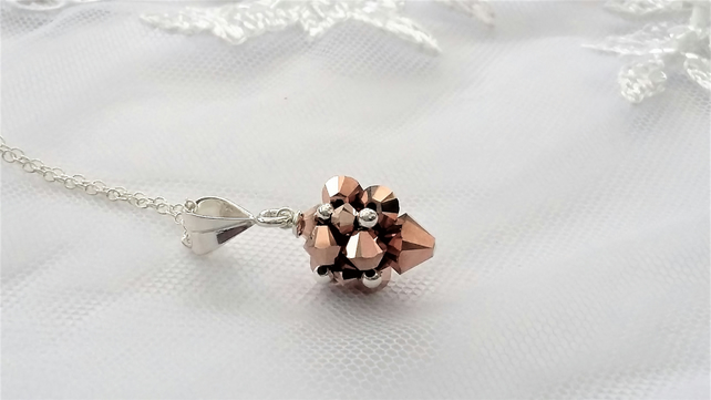 Rose Gold and Sterling Silver Pendant