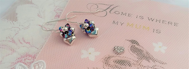 Sterling silver hearts with a unique twist