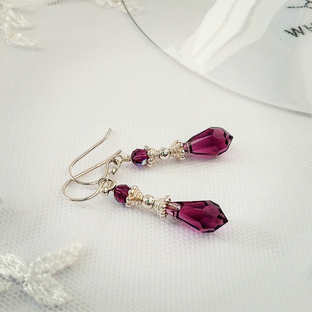 Earrings - Sterling Silver & Swarovski Crystal