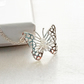 PRETTY FILIGREE STERLING SILVER BUTTERFLY PENDANT  - FREE POSTAGE