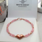 Rose gold vermeil heart and Rose Quartz Bracelet