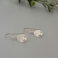 Tree of life earrings with a little sparkle of Swarovski