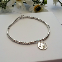 Sterling silver moon and stars charm bracelet NOW REDUCED IN PRICE