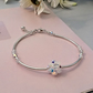 Sparkly Bridal Bracelet.  Sterling silver and Swarovski crystal