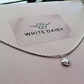 Sparkly Sterling Silver Heart Chain With Bridesmaids Thank You Gift Card