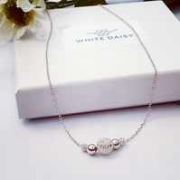 Best Offer Sterling Silver Necklace with free postage